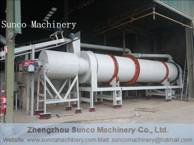 Rotary Drum Dryer for drying sand