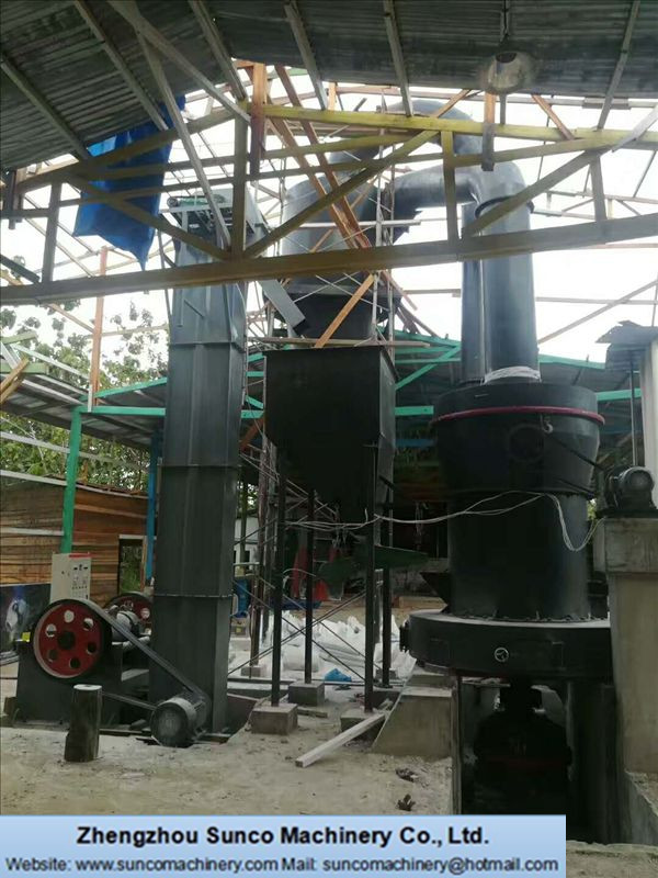 QBM4121 Mill Plant for grinding limestone for Indonesia Customer 02