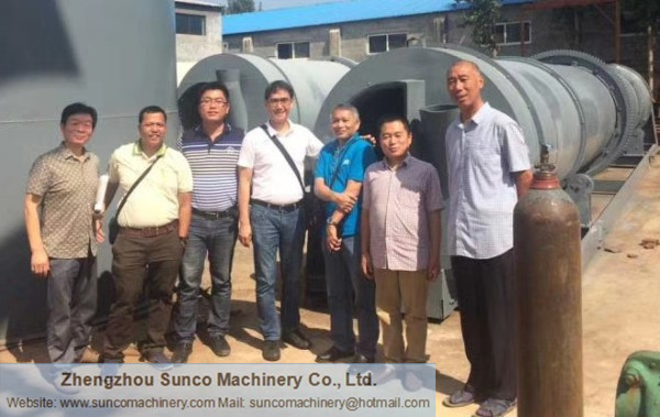Philippines Customer for Cassava Dregs Dryer Machine