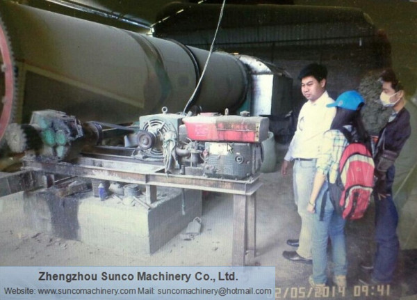 Thailand CP Group for fermented chicken manure drying machine